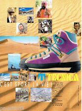 PUBLICITE ADVERTISING 046  1988   les chaussures Randonnée marche Technica