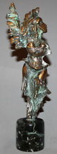 VINTAGE SOLID BRASS ARTWORK ABSTRACT MODERNIST STATUETTE