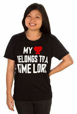 NEW WOMEN'S DR WHO My Heart Belongs to a Time Lord BLACK T-SHIRT Sz L