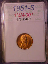 1951-S/S RPM-001 LINCOLN CENT GEM BU RED! - GREAT VARIETY! - H20DXXX