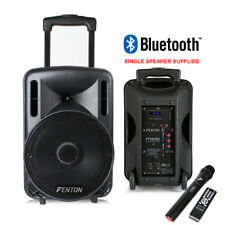"""Portable PA System Active Speaker Battery Powered Bluetooth & UHF Microphone 10"""""""
