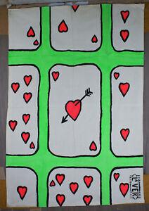 Ace of Hearts, wall art, fairground art, original artwork, love hearts, cool