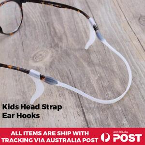 Kids Silicone Head Strap Ear Hooks for Glasses Eyeglass sunglasse Clear