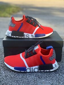Adidas Originals Nmd R1 Red Blue White Black FV5330 Kids Size 6,7 Women 7.5,8.5