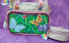 Petit Shabby Chic Rainbow Butterfly broderie Baby Diaper sac à langer couches