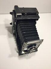 Graflex Crown Graphic 4x5 Polaroid Camera W/ Graflex Optar 135mm Lens & Old Film