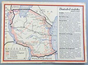 Politische Werbe AK - Deutsch Ostafrika - gelaufen 1937