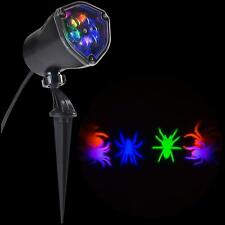 """LightShow 11.81"""" Halloween Whirl-a-Motion Spider Projection Stake Light"""