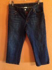 Lucky Brand Dungarees Women's Classic Fit Crop Denim Capris Blue Jeans Size 29