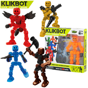 NEW! KLIKBOT Heroes & Villains by Stikbot - Stop Motion Action Toy Play Figure