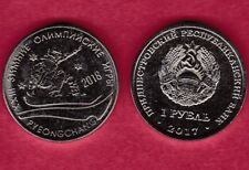 R* TRANSNISTRIA 1 RUBLE ROUBLE 2017 OLYMPIC GAMES PYEONGCHANG 2018 UNC #7282
