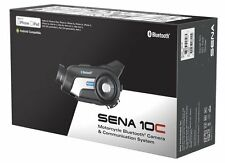 Sena 10C Bluetooth Motorcycle Camera Helmet Headset Intercom Communications