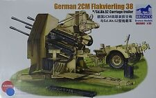 BRONCO CB35057 German 2cm Flakvierling 38 w/Sd.Ah.52 Carriage Trailer in 1:35
