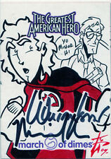 Greatest American Hero Sketch with William Katt & Michael Paré Autograph Card