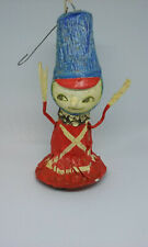 Vintage Fitz & Floyd Paper Maiche' Ornament Red/Blue Soldier from Japan