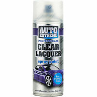 9 x 400ml Clear Lacquer Gloss Spray Paint Aerosol Can Auto Extreme Metal Wood