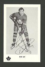 Rick Ley Vintage Toronto Maple Leafs 1970s Hockey Postcard NM