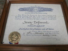 "WILLIAM J. ""BILL"" CLINTON - DOCUMENT SIGNED 2/14/1979 TO JIMMY DRIFTWOOD"