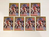 1990-91 NBA HOOPS #23 HAKEEM OLAJUWON ALL-STAR HOUSTON ROCKETS LOT OF 7