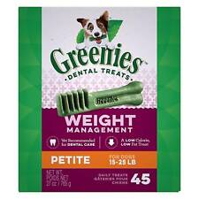 Greenies Weight Management Petite Size 45 count 27 oz | Dental Treats for Dogs