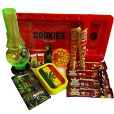More details for cookies smokers gift set. inc herb grinder & acrylic waterpipe ,,,15 item set