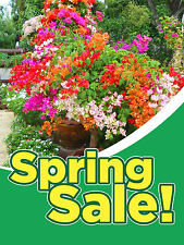 "Spring Sale Florist Flower Business Retail Display Sign, 18""w x 24""h, Full Color"