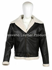 Men's Rocky IV Style Dark Brown Cow-Hide Real Leather Bomber Flying Jacket UK