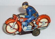 Ancien PN Moto en étain Jouets tôle Philipp Najari fer-blanc bike