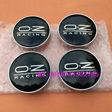 4 x OZ Racing 60mm Alloy Wheel Hub Centre Caps Cap , High Quality, Black Silver