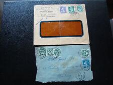 FRANCE - 2 enveloppes (cy80) french