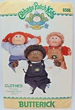 Butterick Pattern 6508 Cabbage Patch Kids Clothes Overall Pants Skirt Shirt
