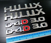 2 x D4D 2 HILUX 2 x 3.0 LOGO EMBLEMS BADGES FOR TOYOTA VIGO MK6 MK7 SR5 05-14