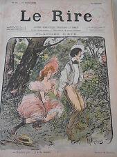 Caricature 1895 de Radiguet Plaisirs d'été Femme dénudée !!!