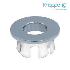 KNOPPO® Waschbecken Messing Abdeckung, Metall Überlaufblende - Eye Chrom