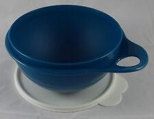 Tupperware Maximilian 1,4 l Schüssel Rührschüssel Petrol Blau / Weiß Neu OVP