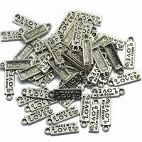 10x Trekkie Silver Tibetan Metal Charms,Rectangle tags Inspired by Star Trek