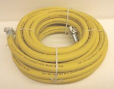 """3/4"""" X 50ft. Jackhammer Air Hose Assembly 300 psi ContiTec Yellow with AM6 ends"""