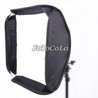 "24""x24"" 60cm portable softbox bag for flash speedlite fit Bowens Elinchrom Mount"