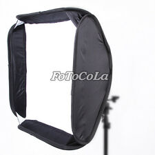 "24""x24"" 60cm portable softbox bag for flash speedlite fit Bowens Elinchrom Mount"