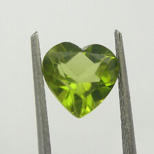 7mm Heart Shape Lime Green Color Natural Peridot Loose Gemstone, 1.35 carats
