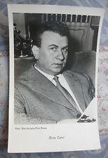 Photo carte postale Vintage Gino Cervi acteur Italien vers 1963 cinéma
