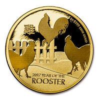 2017 Niue 1 oz Gold $250 Lunar Rooster BU - SKU #117790