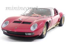 1:18 Kyosho Lamborghini Miura Jota SVJ bourgogne-rouge /or