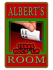 Personalized POKER ROOM Sign Printed with YOUR NAME Texas Hold'em Sign D#TX247