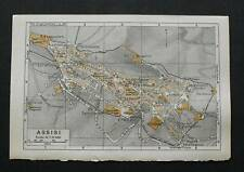 Antica Stampa=Topografica= ASSISI =Scala1:11000 -1909c