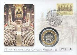 Timbre Numismatique Vatican Pape Benoît Xvi. 2. Vatikanisches Concile 2012