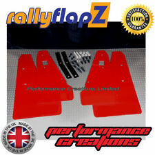 Rally Mud Flaps & Fixings fits MITSUBISHI LANCER RALLIART SPORTBACK 08+ Red