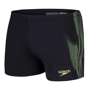 Speedo Mens LZR Placement Aquashort Swimming Trunks Black 8 10424A834