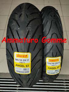 COPPIA 120/70 17  180/55 17 DOT/ANNO 2021!! +OMAGGIO PIRELLI ANGEL ST GOMME MOTO
