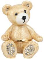 Juliana Treasured Trinkets Teddy Bear diamante trinket box
